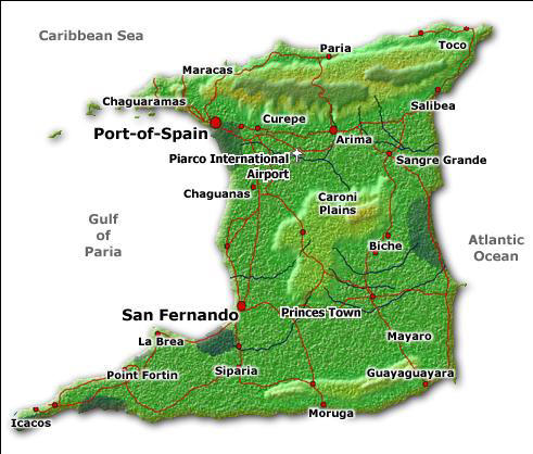Map of Trinidad Highlights and Scenic Drive Tour