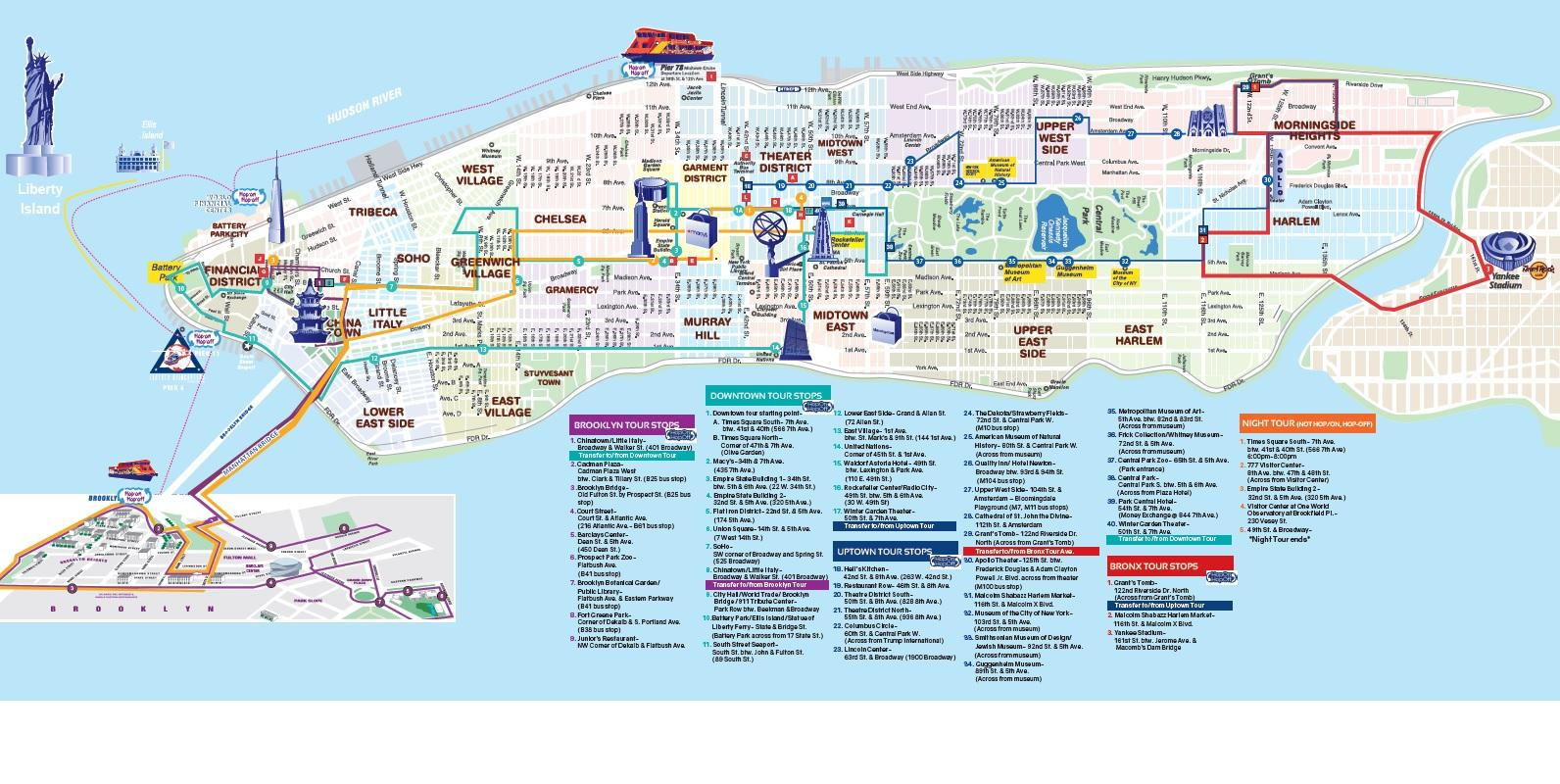 Map Of New York City With Landmarks.One World Observatory New York City Usa Attractions Lonely Planet
