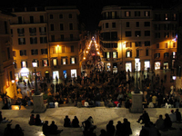 Panoramic Rome by Night Tour and Dinner in Trastevere