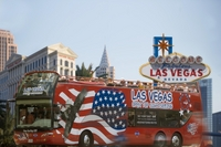 Hop-on-Hop-off-Tour durch Las Vegas im Doppeldeckerbus