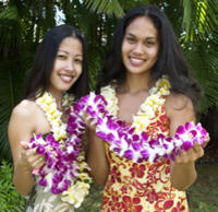 Traditional Lei Greeting on Oahu