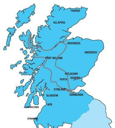Map of 3-Day Isle of Skye and Scottish Highlands Tour