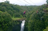 Big Island Super Saver: Helicopter Tour plus Zipline Adventure