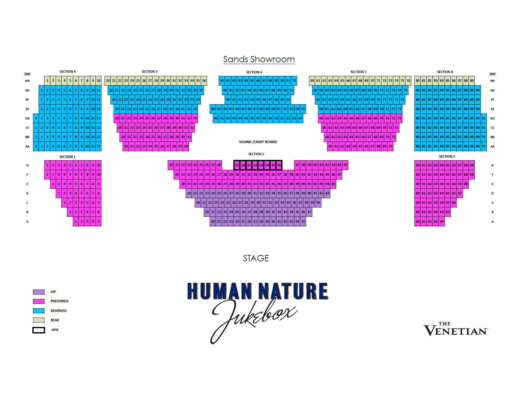 Human Nature Jukebox At The Venetian In The Southwest Lonely Planet - Map of las vegas venetian