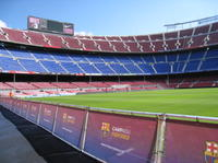 Barcelona Camp Nou Football Stadium Tour from Costa Brava with Optional Montjuic Fountains Light Show