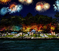 New Year's Eve on Sydney's Clark Island