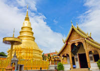 Private Tour: Lamphun Day Trip by Train from Chiang Mai Private Car Transfers