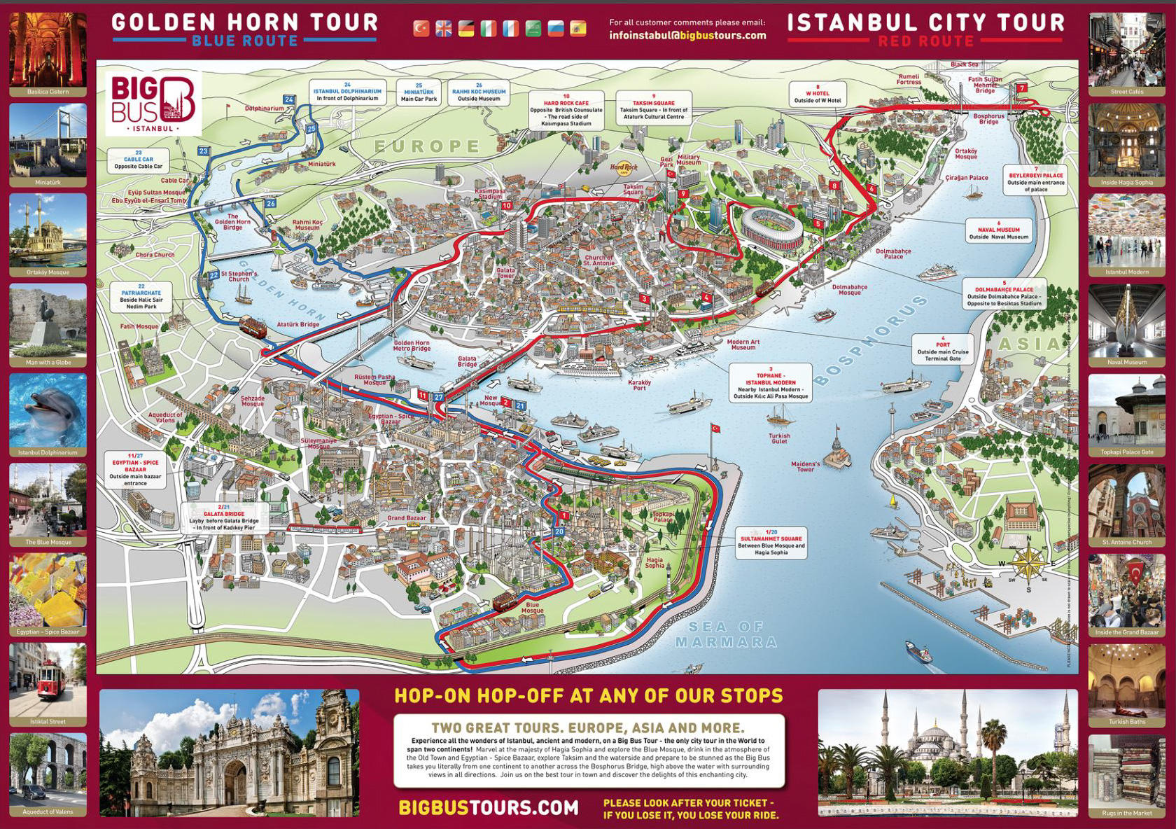 Big Bus Istanbul HopOn HopOff Tour Tours and Passes TravelToe