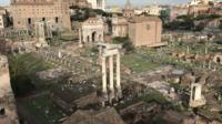 Colosseum, Roman forum and Palatine hill