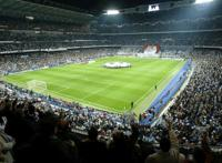 Real Madrid match at the Santiago Bernabeau