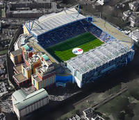 Chelsea Football Match at Stamford Bridge Stadium