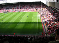 Liverpool FC Football Match at Anfield Stadium