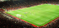 Manchester United Football Match at Old Trafford Stadium