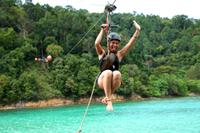 Private Tour: Gaya Island Hike and Zipline Adventure from Kota Kinabalu