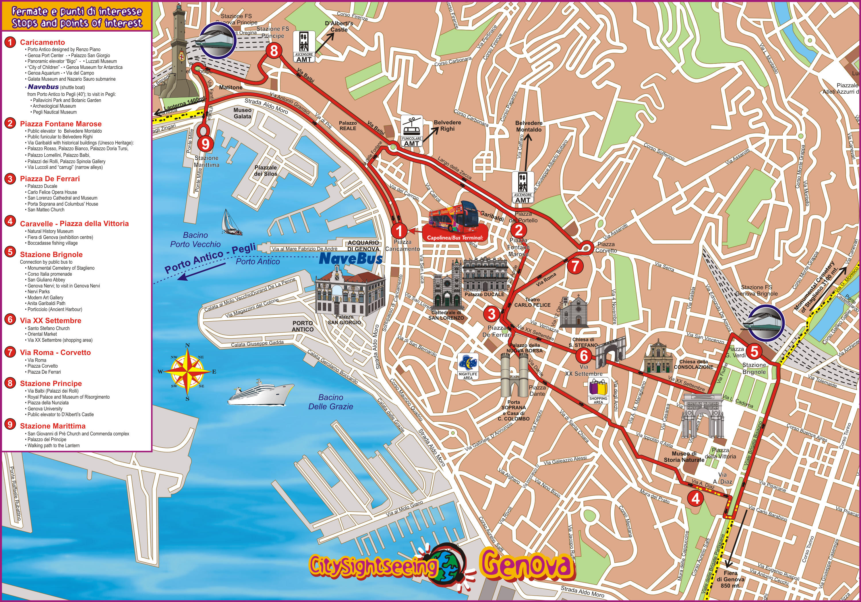 Genoa City HopOn HopOff Tour in Italy Lonely Planet