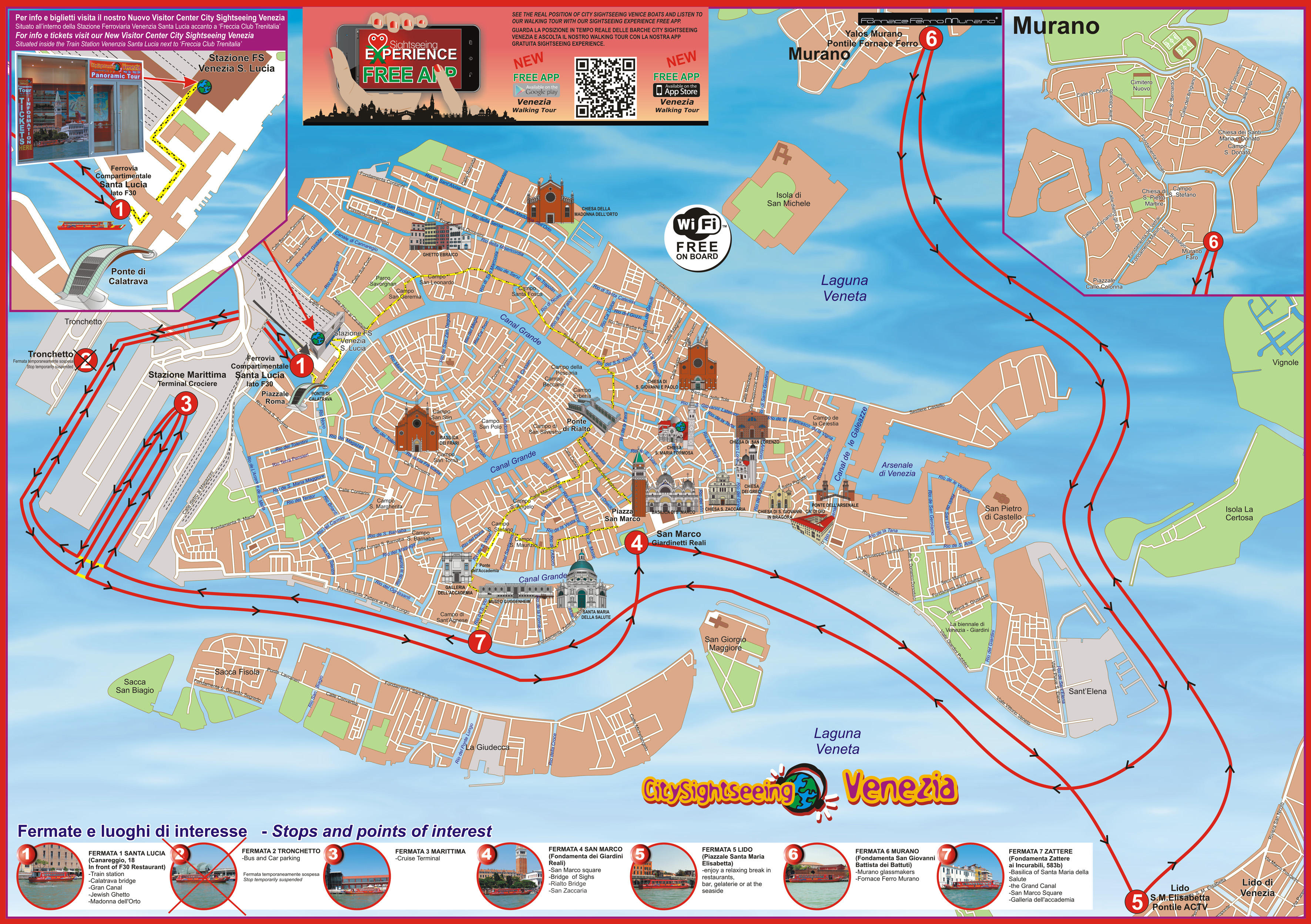 Venice City Sightseeing HopOn HopOff Tour in Venice Italy – Venice Map Tourist