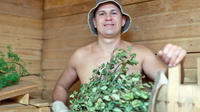 Russian Bath Experience at Historical Banya in St Petersburg with 3-Course Russian Lunch & Russian Vodka