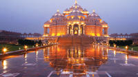 Evening Akshardham Temple Tour with Musical Colored Fountain Show