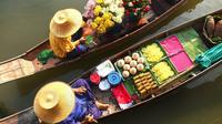 Private Tour: Damnoen Saduak Floating Market and Bangkok City Temples Private Car Transfers