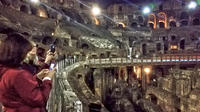Night Colosseum Tour with Gladiators Arena and Underground