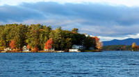New Hampshire Train Along Lake Winnipesaukee