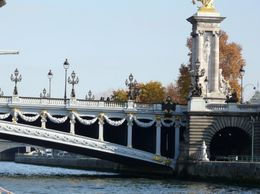 The Alexander Bridge as seen from the Seine River Cruise., Jamie S - December 2007