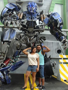 me and my hubby showing off our muscles lol , Anchal K - July 2013