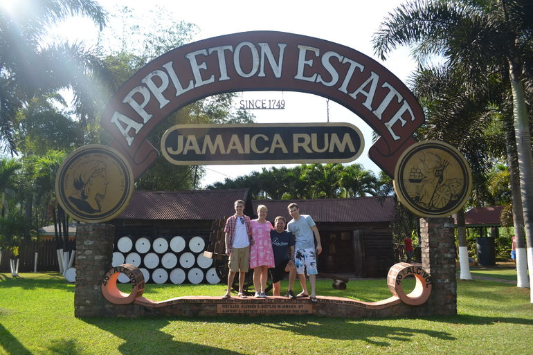 The Thompsons enjoyed the tour! Happy 2013! Highlight of our trip to Negril, Jamaica.