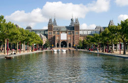 Photo of   Museumplein (Museum Square) and Rijksmuseum, Amsterdam