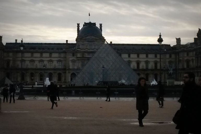 Outside the Louvre - Paris