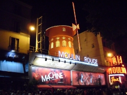 Outside the Moulin Rouge, Philip H - September 2010
