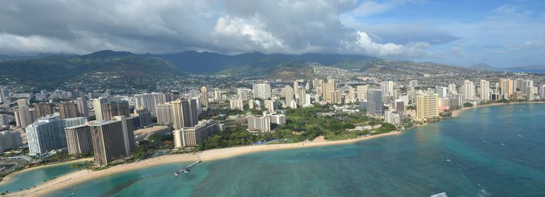 Panoramic view of the hotels - Oahu