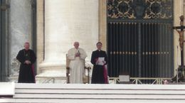 Photo of Rome Papal Audience Ticket at Vatican City Pope Benedict with Cardinals of other countries.