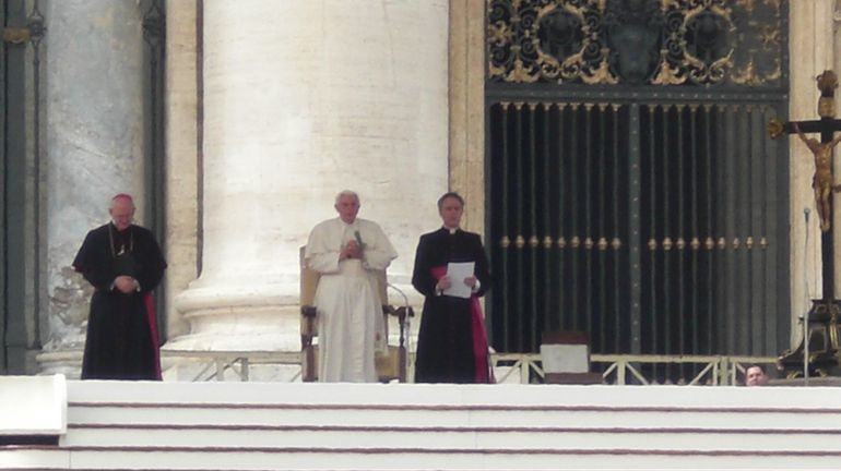 Pope Benedict with Cardinals of other countries. - Rome