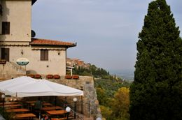 Cafe overlooking the beautiful hill side., David P - October 2008