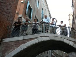 Photo of Venice Venice Gondola Ride and Serenade Tourists on Bridge over Canal