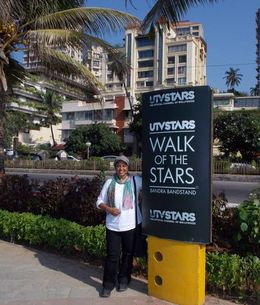 long footpath see many film stars statues and handprints all stars. , Miss R B - January 2014