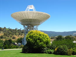 Antenna at Canberra Deep Space Communication Complex , David W - March 2011