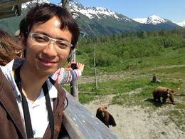 Ekkapong watching the elk , eak_dent_cu - June 2015