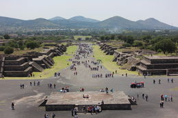 The main street, Avenue of the Dead, as seen from on top of the Pyramid of the Moon., Bandit - September 2012