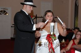 Photo of Las Vegas Las Vegas Wedding at A Special Memory Wedding Chapel candle lighting