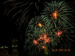 fireworks in honour of UK Prince Charles , Nikola R - May 2012