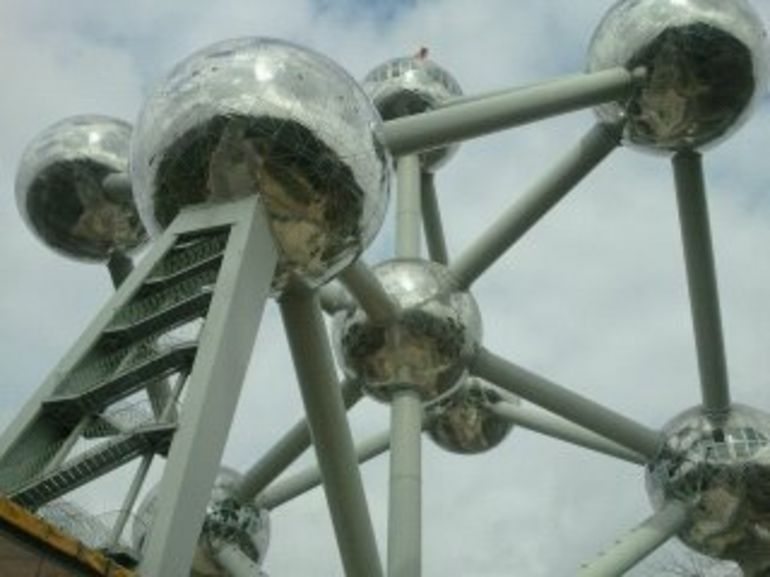 Europe Trip Glenn at the Atomium - Brussels
