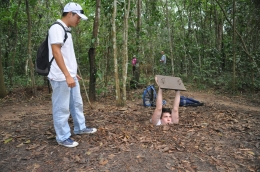 One of the hidden entrances to the Cu Chi Tunnels., David - October 2010