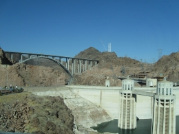 The tour takes you across the Hoover Dam. - July 2010