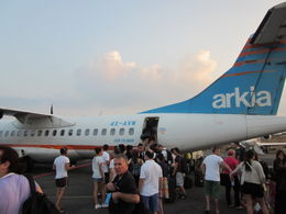 This is the aircraft on which I flew from Tel Aviv to Eilat...looks a bit rough...and, the flight was a bit bumpy...but, we made it! , Thurman - August 2012