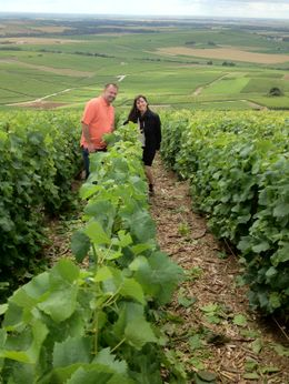 My husband and I at the Champagne vineyard. , Lynee - July 2012