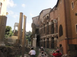 biking through some ruins near the Roman Forum , Kevin M - October 2011