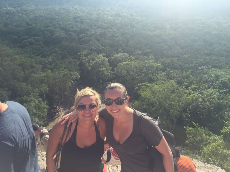 You can see the whole jungle around Coba from the top