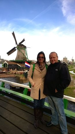 Photo of Amsterdam Amsterdam Super Saver: Zaanse Schans Windmills, Delft and The Hague Day Trip Me and my wife at the mills